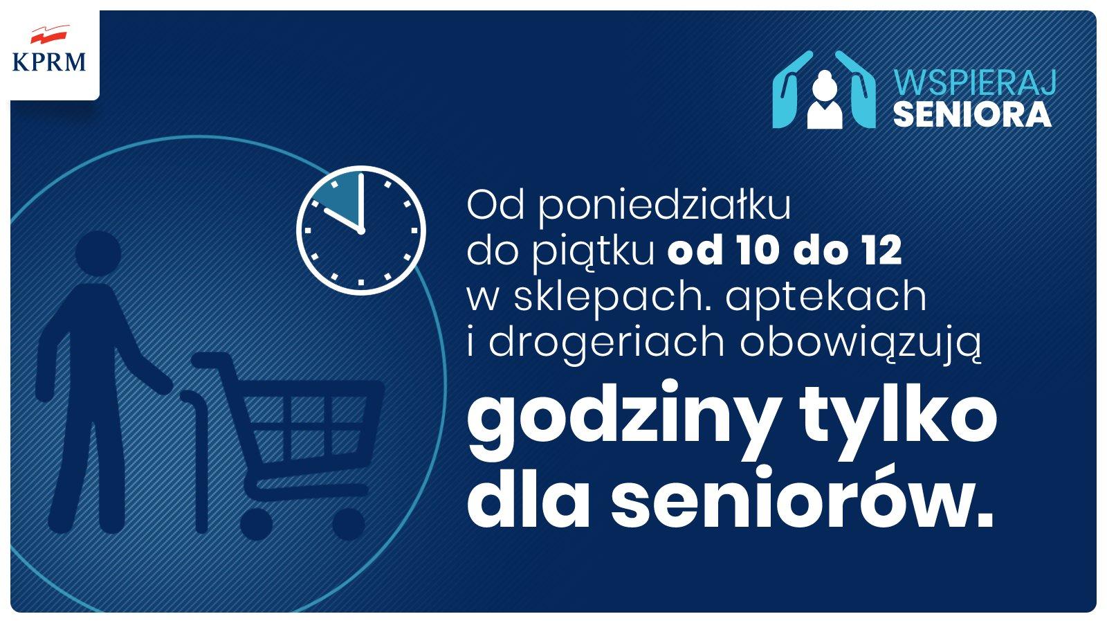 Grafika: Godziny tylko dla seniorów