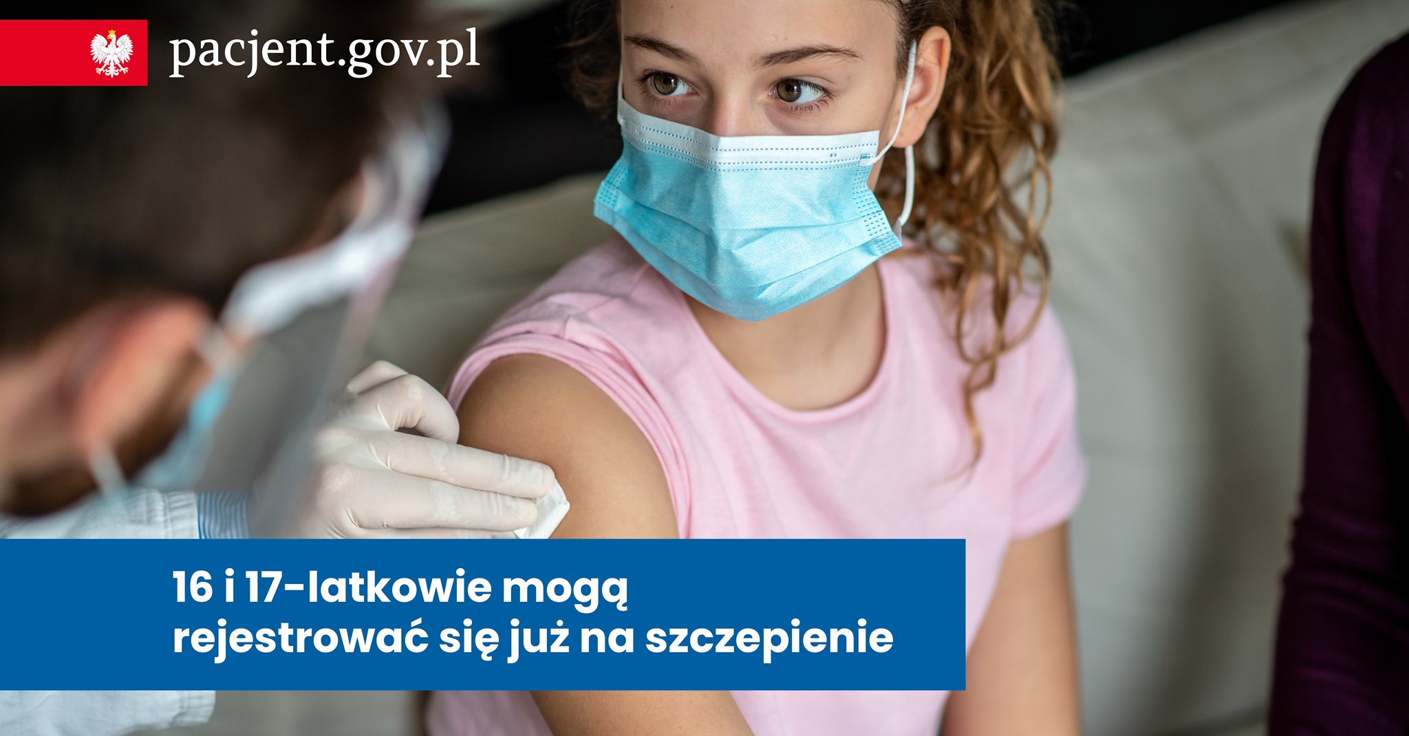 Grafika: szczepienie młodzieży