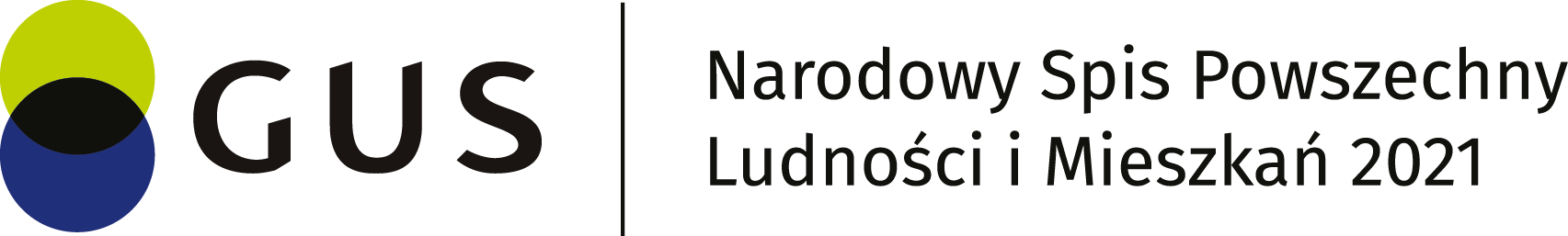 Logo: Narodowy Spis Powszechny Ludności i Mieszkań 2021
