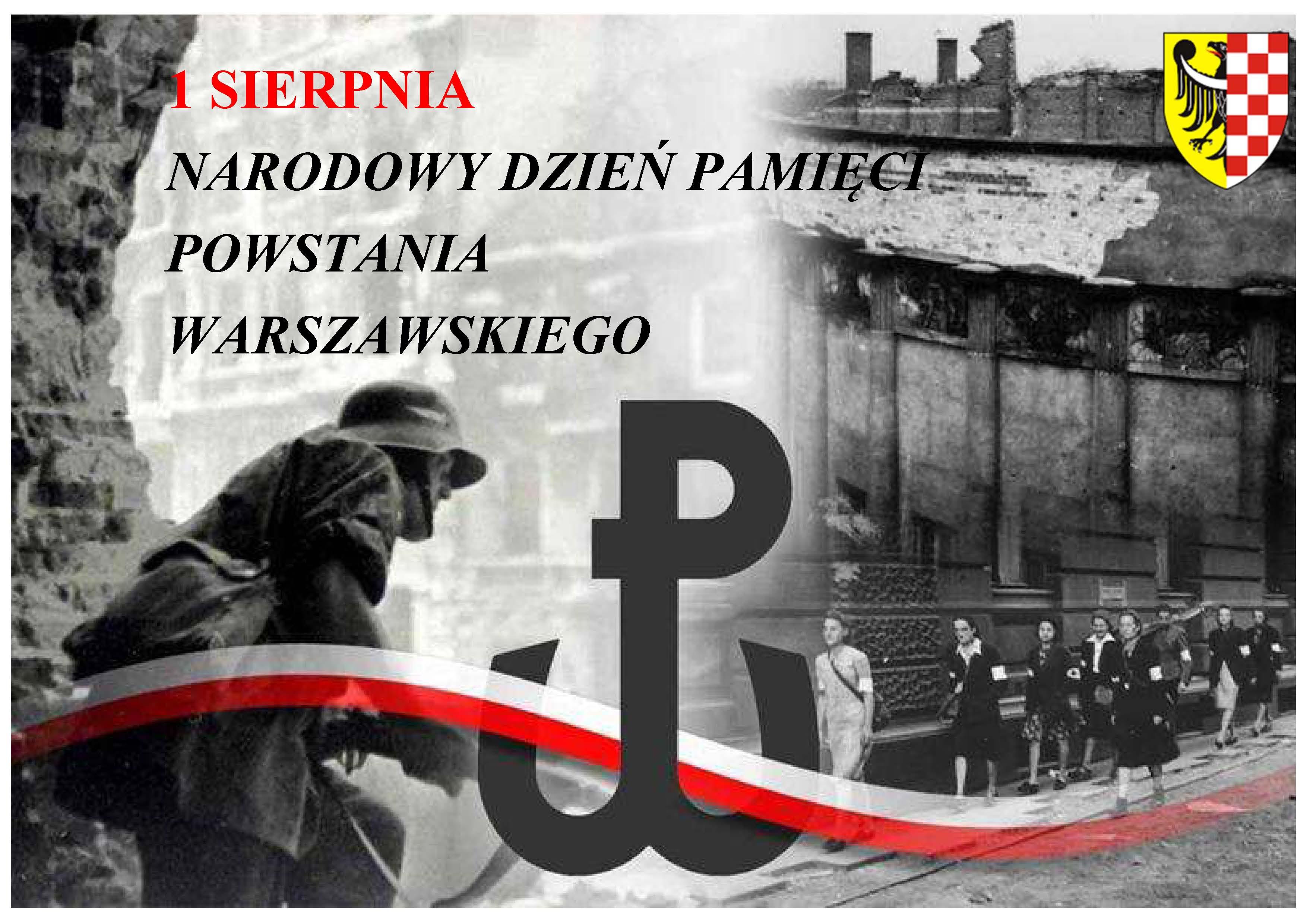 Grafika: 1 Sierpnia, Narodowy Dzień Pamięci Powstania Warszawskiego