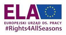 Logo: Europejski Urząd ds. Pracy (ELA)