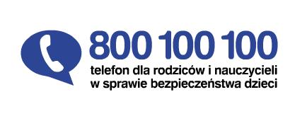 Logo: Telefon dla rodziców i nauczycieli    w sprawie bezpieczeństwa dzieci