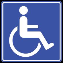Symbol osoby niepełnosprawnej
