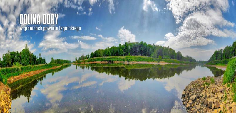 Dolina odry w granicach powiatu legnickiego (zdjęcie panormaiczne)