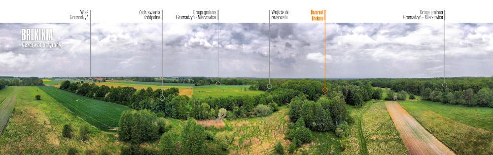 Rezerwat Brekinia z lotu ptaka (fot. Krzysztof Zając)