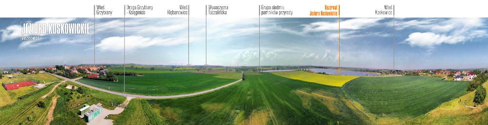 Rezerwat Jezioro Koskowickie z lotu    ptaka (fot.Krzysztof Zając)