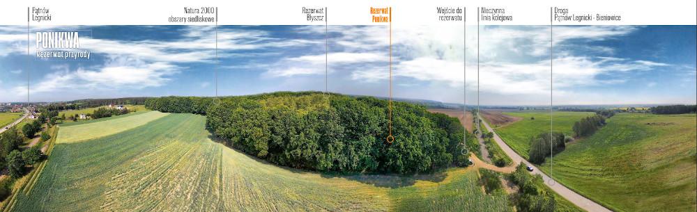Rezerwat Ponikwa widok z lotu ptaka