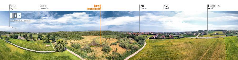 Rezerwat Torfowisko Kunickie z lotu ptaka (fot.Krzysztof    Zając)